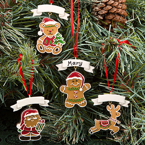 Gingerbread Themed Christmas Holiday Ornaments From Gifts By Solefavours