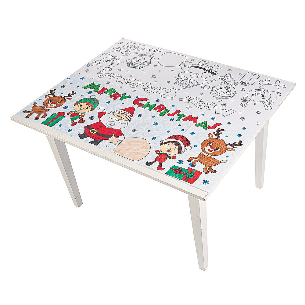 Colour Your Own Christmas Tablecloth