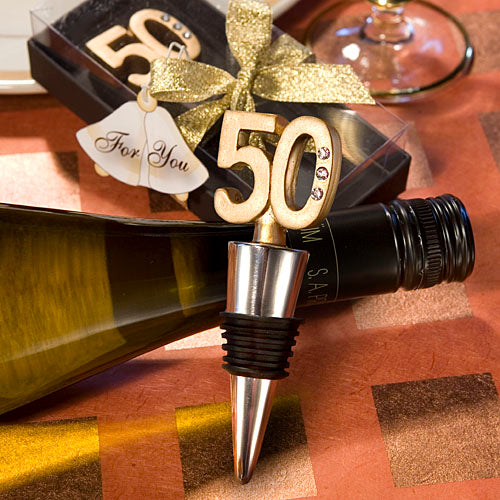 50th Anniversary Wine Bottle Stopper Favors