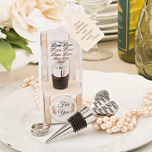 Love Engraved Bottle Stoppers