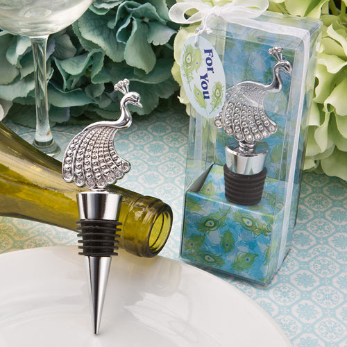 Stunning Peacock Bottle Stoppers