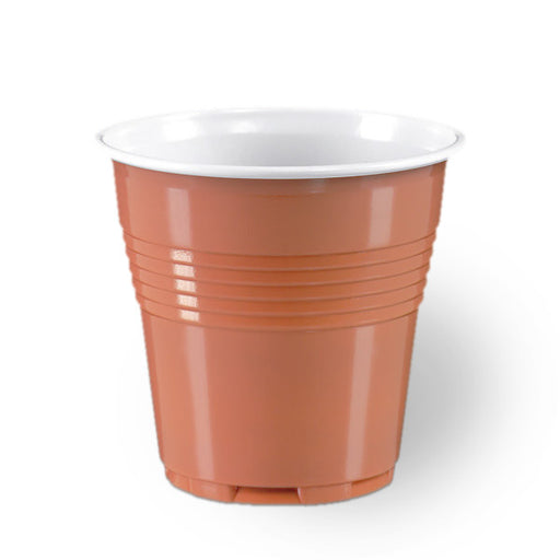 100 Brown Plastic Disposable Espresso Cups size 80cc