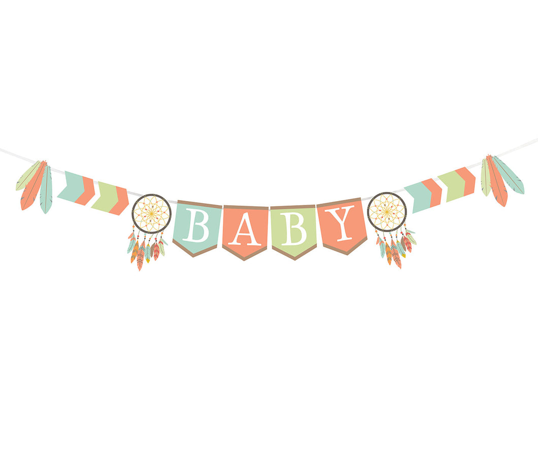 Lillian Rose Tribal Baby Shower Bunting