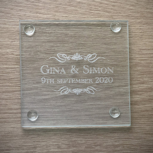 Personalised Engraved Glass Coasters From Solefavours