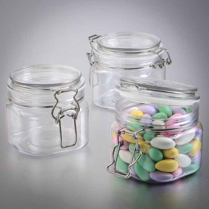 Perfectly Plain Collection 16 oz.  Large clear Acrylic Apothecary Jar favour