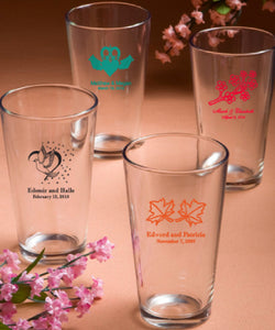 Personalised Pint Glasses Min 25 Pieces.