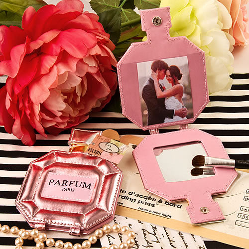 Paris Themed Parfum Pocket Mirror And Picture Holder