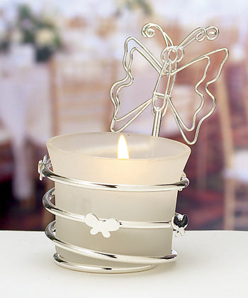 Butterfly Design Candle Holders Place Card Holders