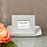 Silver Metallic Photo Frame Or Place Card Holder With Textured Leatherette Diamond Finish