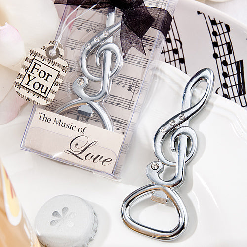 Musical Note Bottle Opener favours