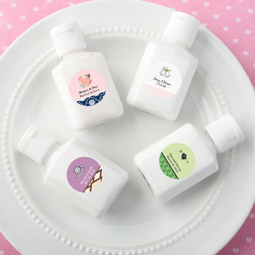 Personalised white hand lotion with a vanilla scent