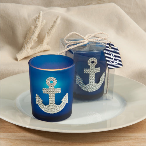 Spectacular anchor design candle favours