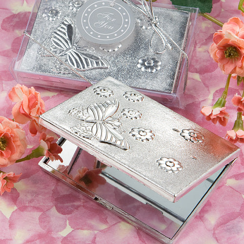 Elegant  Reflections Collection  Butterfly Design Mirror Compact favours