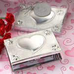 Elegant Reflections Collection Heart Design Mirror Compact favours