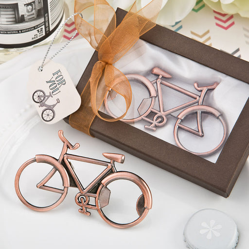 Vintage Bicycle Design Antique Copper Colour Metal Bottle Opener