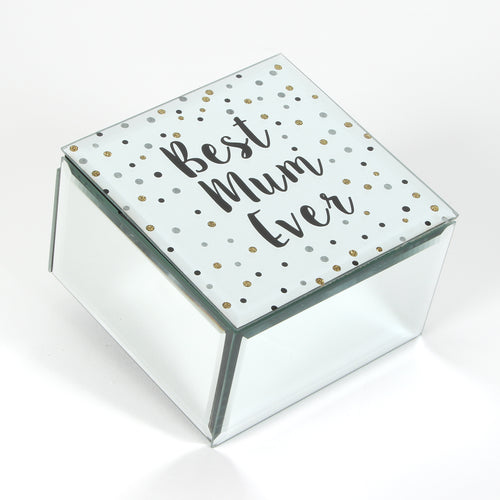 Celebration Glass Trinket Box - Best Mum Ever