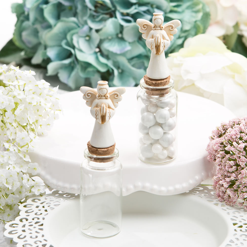 Perfectly Plain Collection Candy Jar With Ivory Guardian Angel Decoration