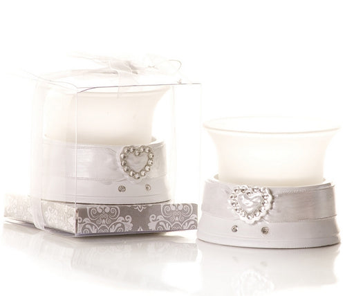 Diamante Heart Shaped Tealight Candle Holder