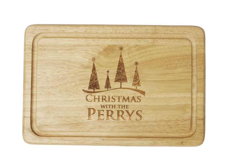 Personalised Christmas Tree Chopping Board