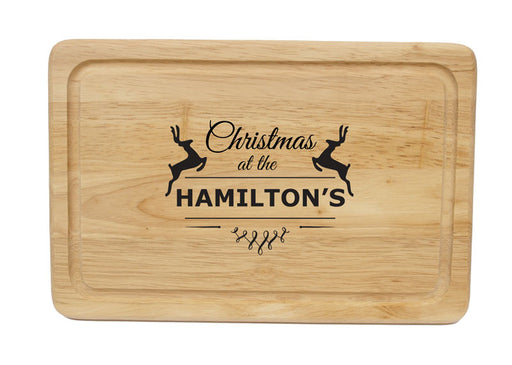 Personalised Christmas Reindeer Chopping Board