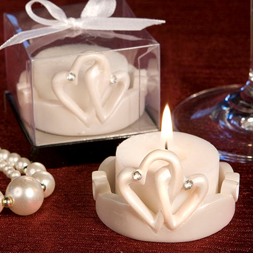 Interlocking Hearts Design Favour Saver Candles