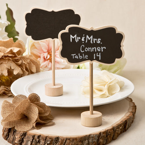 Rustic Chalk Board Place Card Holder