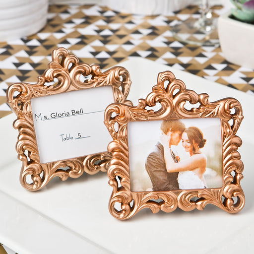 Rose Gold  Baroque style frame favor
