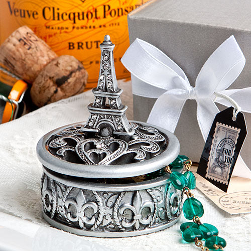 Paris Eiffel Tower Design Curio/ Trinket Box Favours