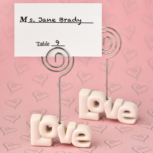 Love Theme Place Card Holder
