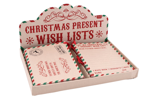 Craft Paper Christmas Wish lists