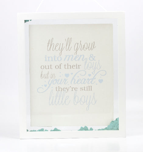 Blue Baby Confetti Plaque