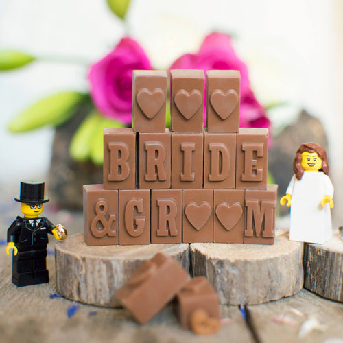 Chocolate Bride and Groom Sign