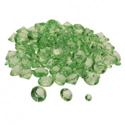 Diamond Confetti Lime Assorted Sizes 12mm 9mm 5mm