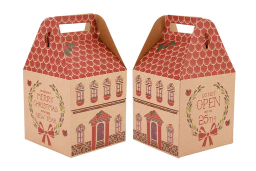Medium Christmas House Present Box