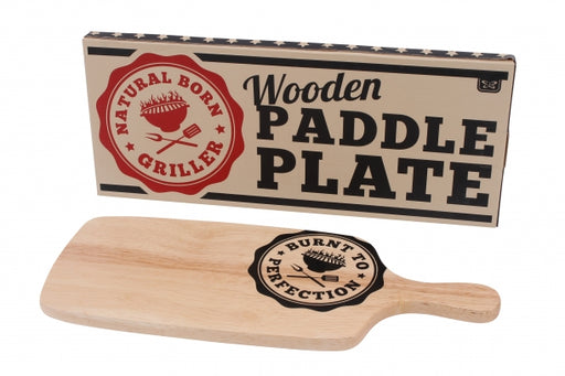 Dad's BBQ 'Burnt To Perfection' Wooden paddle Platter
