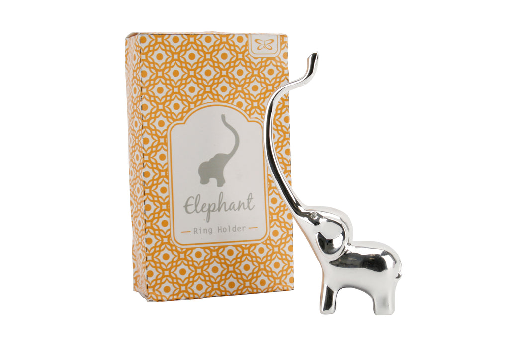 Silver Elephant Ring Holder