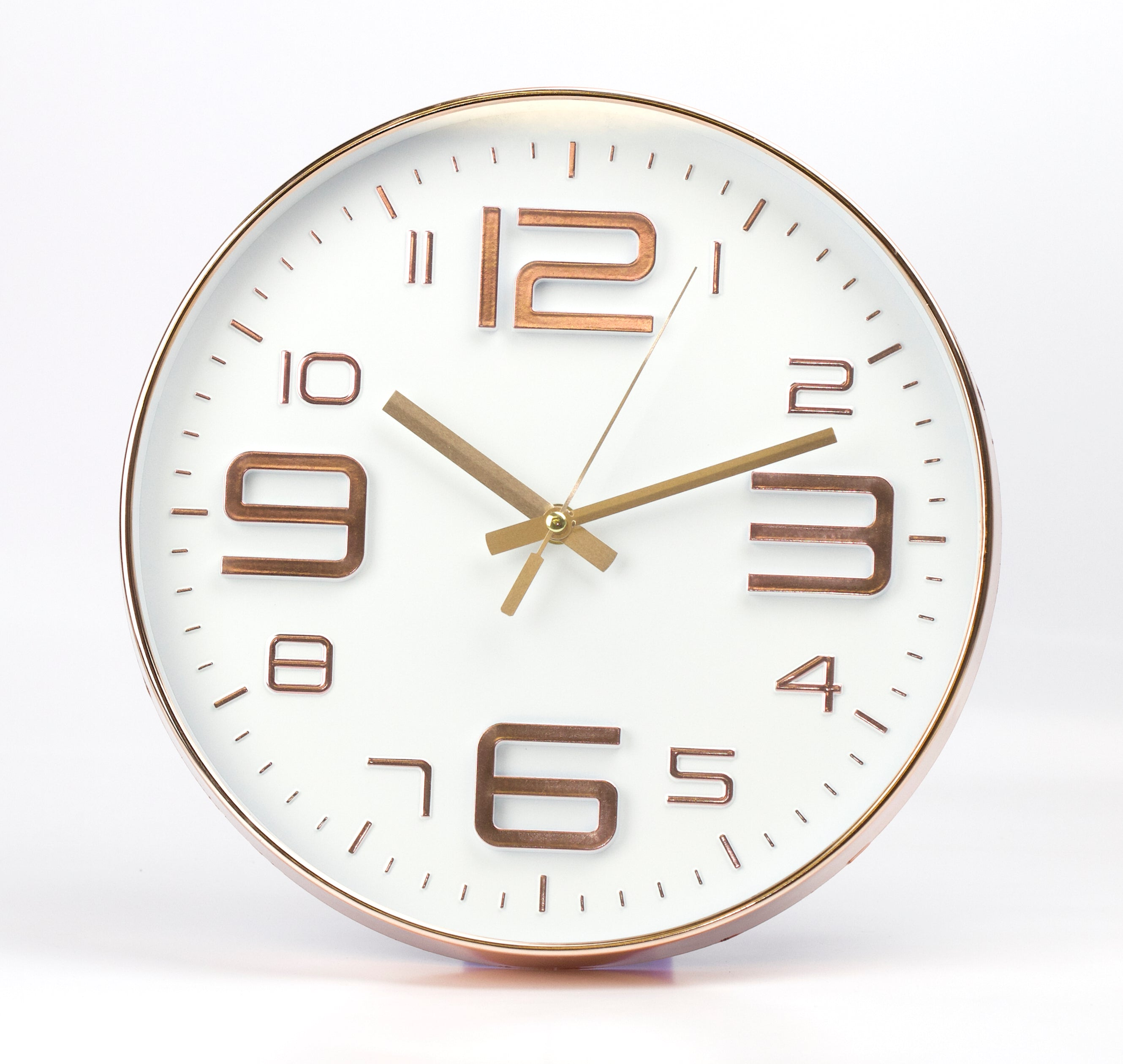White Embossed Rouan Copper Clock