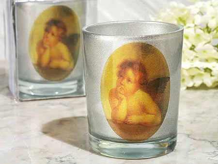 Heaven Sent Collection Silver Cherub Candle Holder