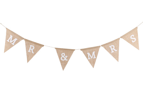 Wedding Mr. And Mrs.' Hessian Bunting