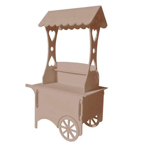 Wooden Unfinished Display Cart