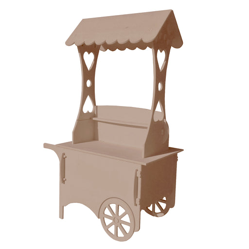 Wooden Unfinished Display Sweet Cart
