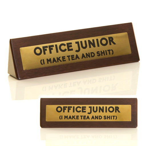 Wooden Desk Sign - Office Junior