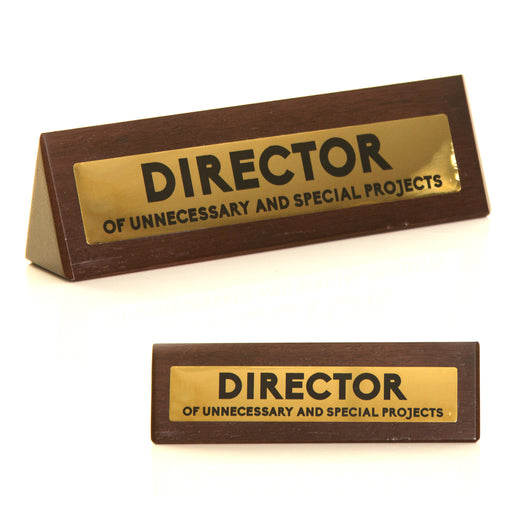 Wooden Desk Sign - Director