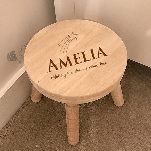 Personalised Rubber Wood Children's Stool