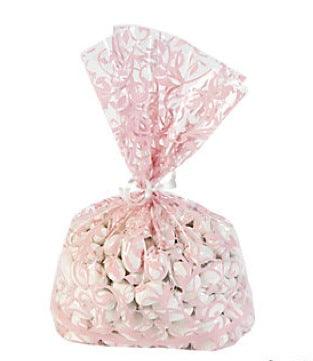 12 x Light Pink Swirl Cellophane Bags