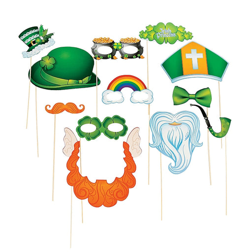 12 x St. Patrick's Day Stick Costume Props