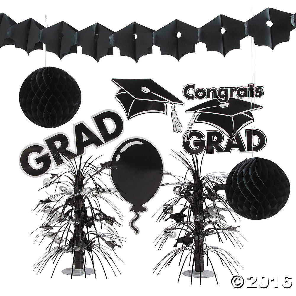 Paper Black Graduation Decorating Kit