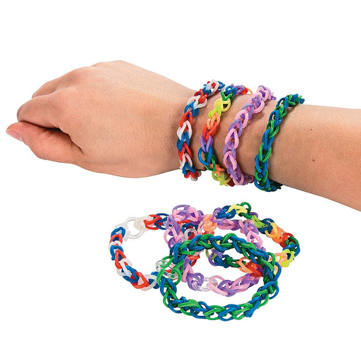 Pack of 12 Multicoloured Fun Loop Bracelets