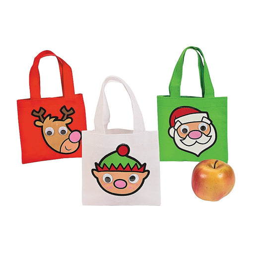 Christmas Google Eye Mini Totes 12