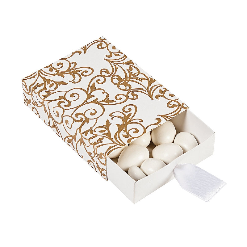 12 x Gold Wedding Pull Favor Boxes